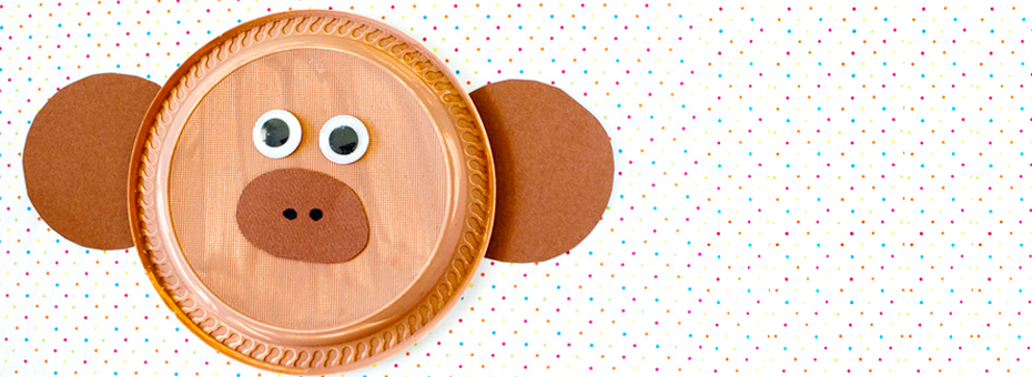 ... Animal Paper Plate Craft activities \u2013 including this super cute monkey face! All you need are paper plates wobbly eyes brown card \u0026 paint (optional). & Monkey Paper Plate Craft - Starskills