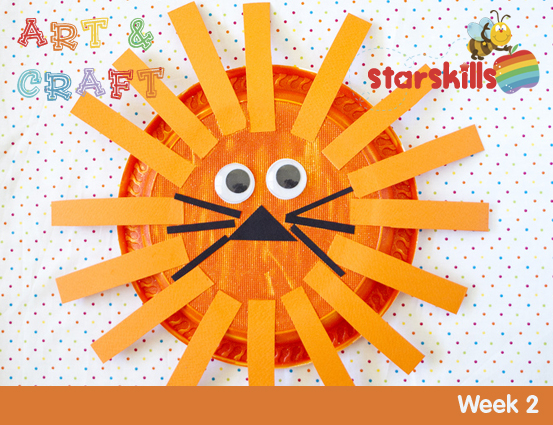 2-Art-and-Craft-Week-2-Lion  sc 1 st  Starskills : lion paper plate - pezcame.com