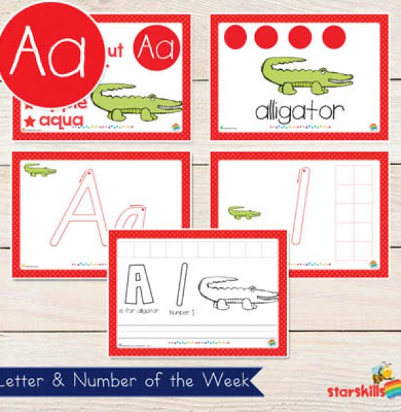 Letter & Number of the Week Booklets {A-Z} 26
