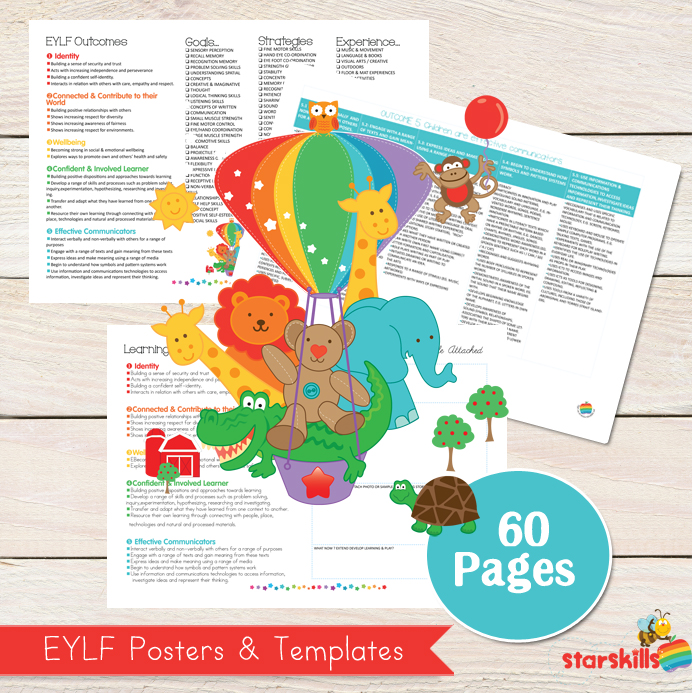 Eylf programming templates starskills for Early years learning framework planning templates