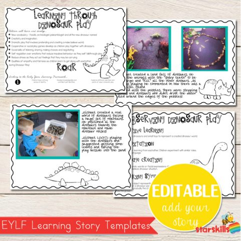 Learning Stories - Editable