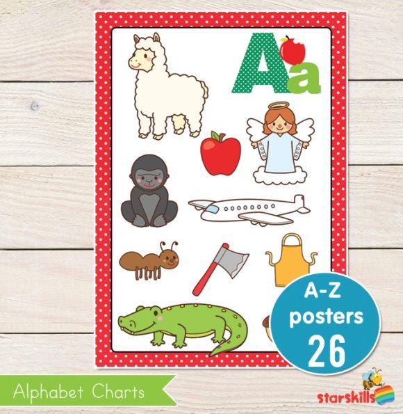 A-Z Alphabet Picture Charts